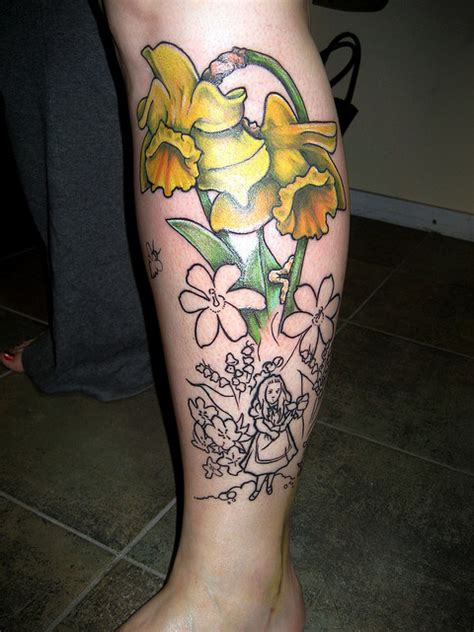 daffodil and rose tattoo best 25 narcissus flower tattoos ideas on