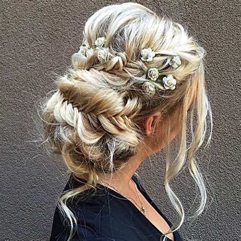 formal hairstyles with flowers 2017 prom hair trends fashion trend seeker