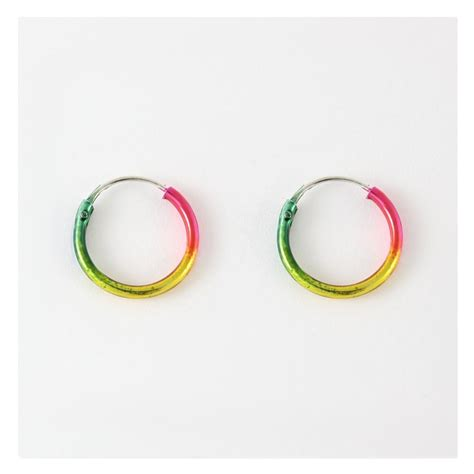 Rainbow Hoop rainbow hoop earrings 12mm from kingsley uk
