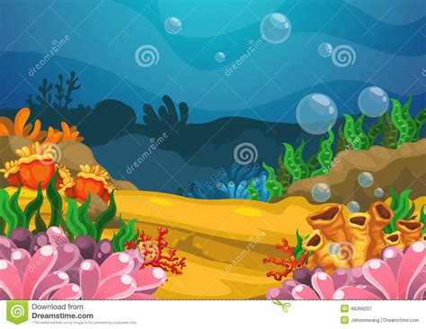 aquarium l fish mirror frame moving picture under the sea background stock vector image of deep