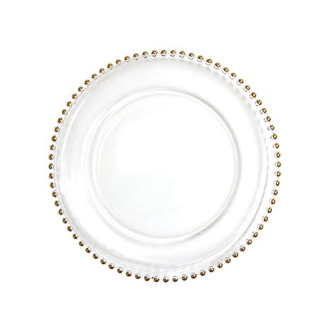 beaded plate chargers gold beaded edge glass charger plates 8 pack emporium