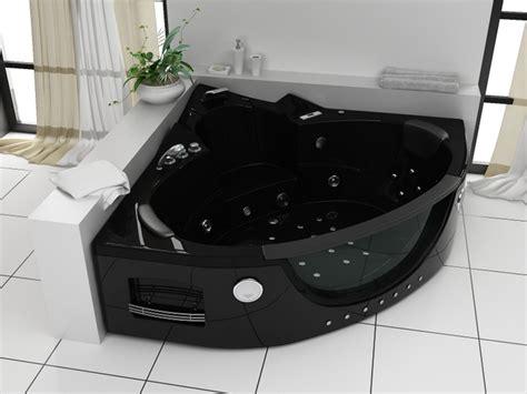 vasca nera vasca idromassaggio 152x152cm a 12 idrogetti per 2 persone pr