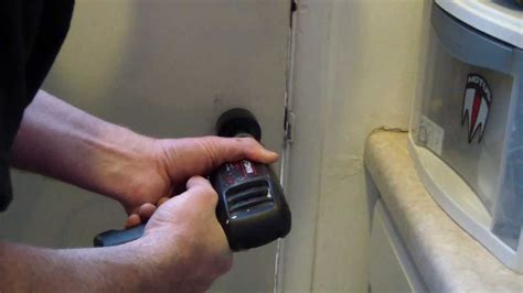 how to drill a doorknob