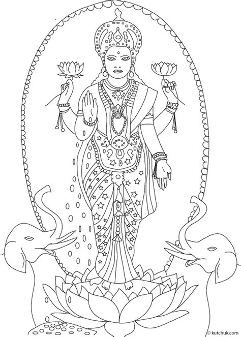lakshmi coloring pages