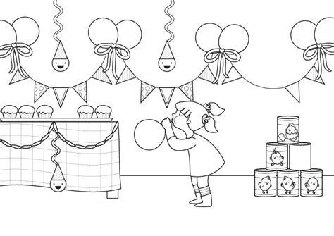 tarjetas de cumplea os para colorear e imprimir az dibujos para fiesta de cumplea 241 os dibujo para colorear e imprimir