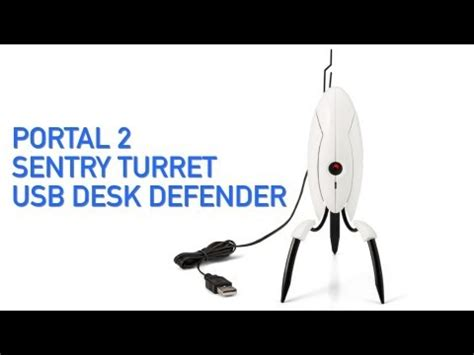 Portal 2 Sentry Turret Usb Desk Defender portal 2 sentry turret usb desk defender from thinkgeek how to save money and do it yourself