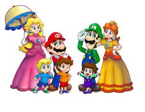 Super mario family stroll wip by allenare on deviantart