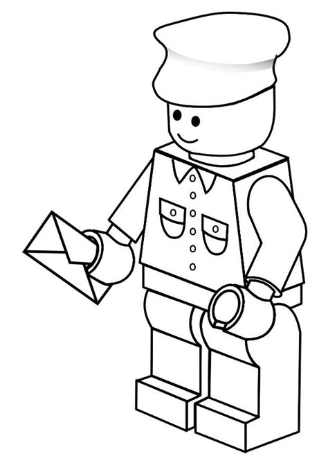 mailman coloring pages coloring home