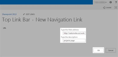 sharepoint 2013 top link bar how to add links to the top link bar in sharepoint