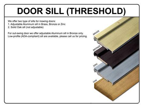 Wooden Exterior Door Sills Door Sills Exterior Door Jim White Millwork Sill28oak Oak Exterior Door Sill At Exterior Door