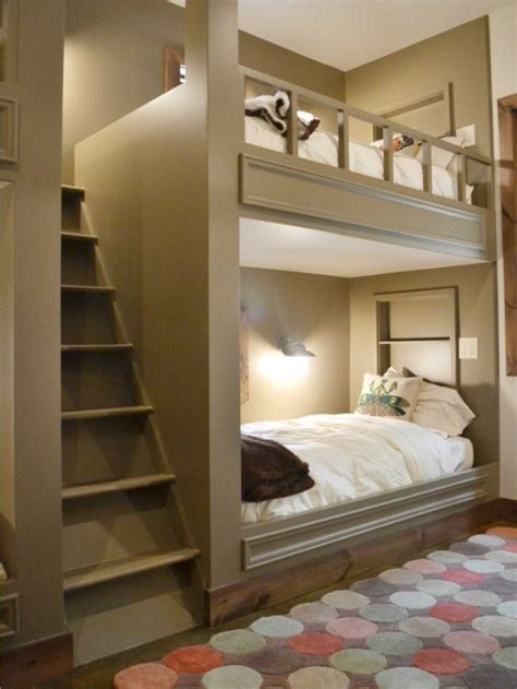 Rooms With Bunk Beds Small Bedroom Bed Enclosed In Wall Ideas