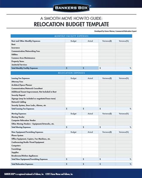 moving budget template the world s catalog of ideas