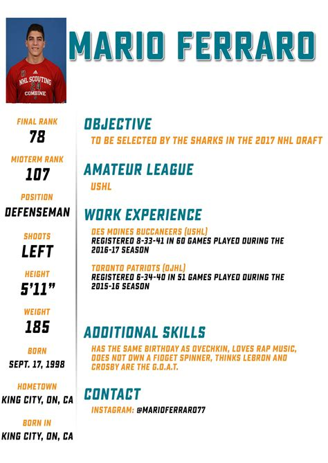 hockey player resume resume ideas
