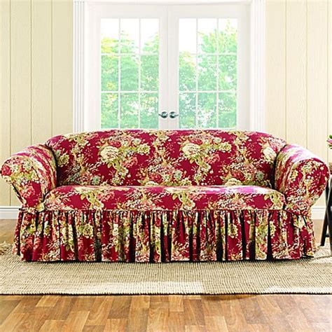 sure fit waverly ballad bouquet sofa slipcover buy sure fit 174 ballad bouquet by waverly sofa slipcover in