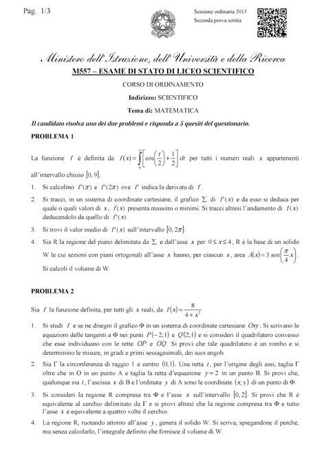 testo scientifico esercizi svolti di matematica maturit 224 scientifica 2013