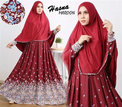 Gamis Syari Jumbo Mariana Maron Baju Muslim Wanita Gamis Busui gamis cantik murah b106 hasna syar i baju muslim