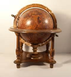 Office Desk Deco Large Olde World Globe Wooden Stand Steampunk Furniture