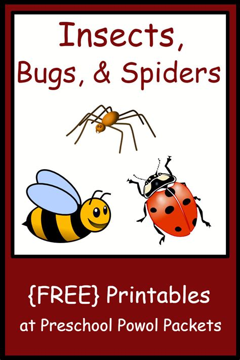 Preschool Insect Theme Printables insect bug spider themed free preschool printables
