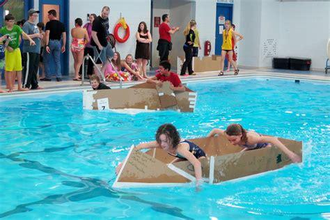 cardboard boat race ontario regional elementary students compete in skillsontario