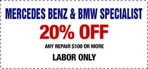 Mercedes Maintenance Coupons Auto Repair Coupons Anaheim Flushing System Change