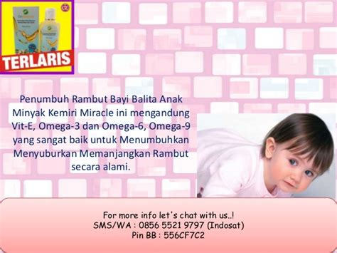 Minyak Kemiri Miracle minyak kemiri yang bagus untuk rambut bayi 0856 5521 9797
