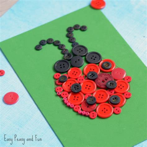 button crafts ladybug button craft easy peasy and