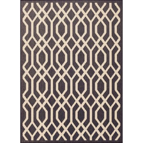 home depot outdoor rugs hton bay lattice navy 5 ft 3 in x 7 ft 4 in indoor