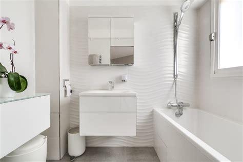 Wandgestaltung Schlafzimmer 4171 by Un Songe De Blanc Modern Badezimmer