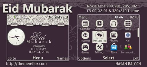 nokia c3 themes with media player skin eid mubarak themes for nokia 320 215 240 nokia 240 215 320 nokia