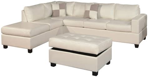 leather sectional with chaise and ottoman white color modern tufted leather chaise lounge sofa bed