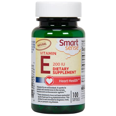 Vitamin A 200 000 Iu Smart Sense Vitamin E 200 Iu Softgels 100 Ct Shop Your