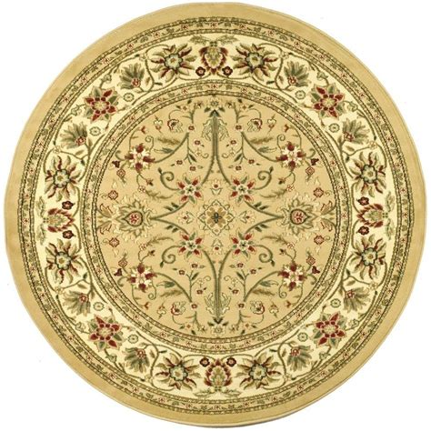 Rounds Rugs Safavieh Lyndhurst Beige Ivory 8 Ft X 8 Ft Area Rug Lnh212d 8r The Home Depot