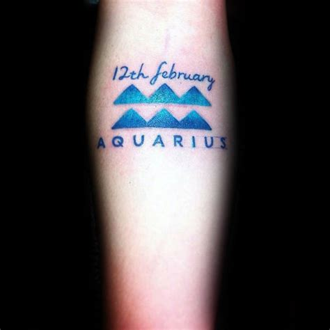simple aquarius tattoo designs 70 aquarius tattoos for astrological ink design ideas
