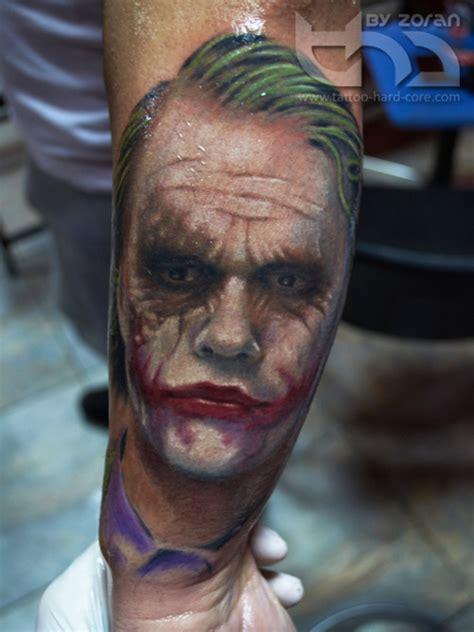 joker zombie tattoo zombie joker face tattoo on leg by gwooki