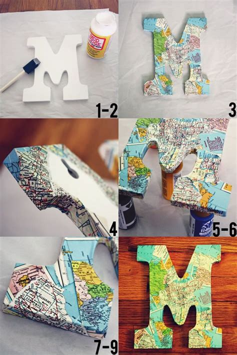 Decoupage Letter Ideas - 25 best ideas about decoupage letters on