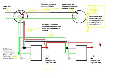 motion detector lights wiring diagram detector