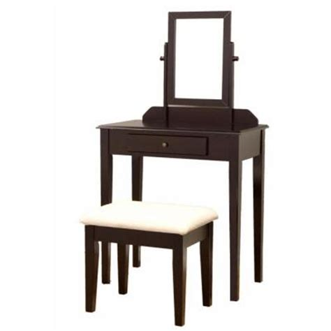 Home Depot Makeup Vanity by Frenchi Home Furnishing Wood Vanity Bedroom Make Up Bench 3 Mh203 The Home Depot