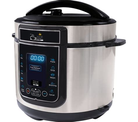 Oxone Ox1110 Professional Pressure Cooker 10 L buy pressure king pro digital pressure cooker chrome free delivery currys