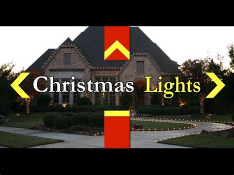 flower mound area christmas light installation youtube