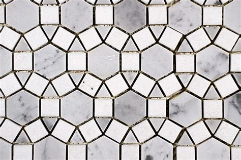 Marble Mosaic Floor Tile Sunflower Marble Mosaic Tiles Modern Mosaic Tile By Saltillo Imports