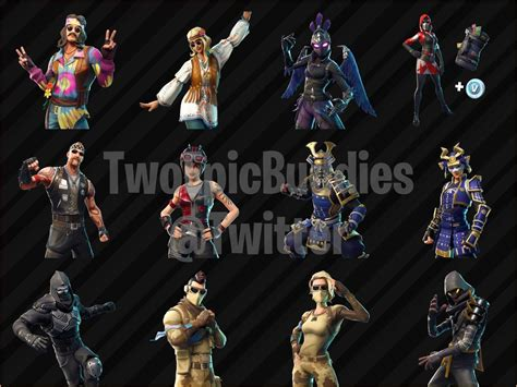fortnite leaked skins leaked skins and cosmetics found in fortnite s v5 30 files
