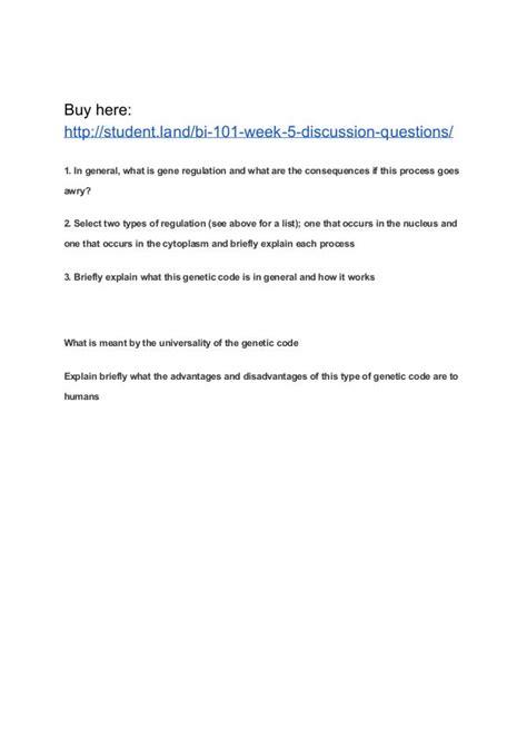 bi 101 week 5 discussion questions park joomag newsstand