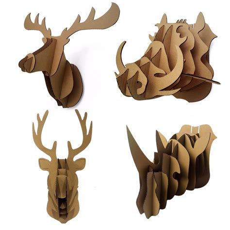 1000 images about trophy head mount 3d puzzles on aliexpress com buy decorative 3d puzzle cardboard animal
