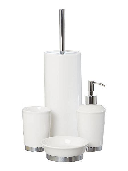 linea white ceramic bath accessories house of fraser