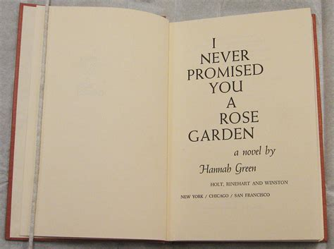 Never Promised You A Garden by I Never Promised You A Garden Ernst Reichl