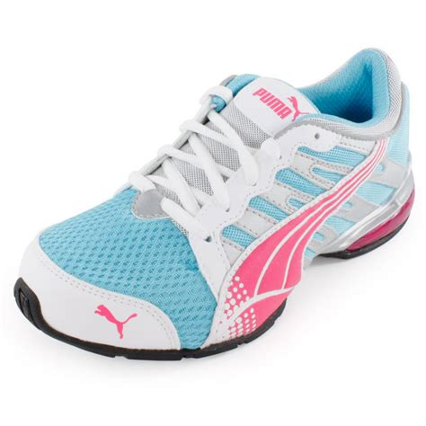 juniors voltaic 3 running shoes blue and pink ebay