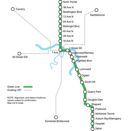 green line map the city of calgary green line southeast se transitway home