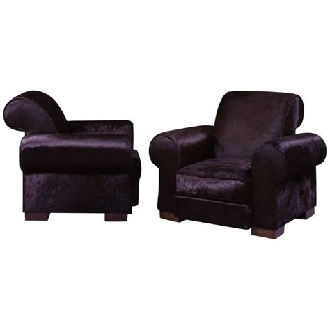 comfortable armchairs marc du plantier rare pair of comfortable armchairs