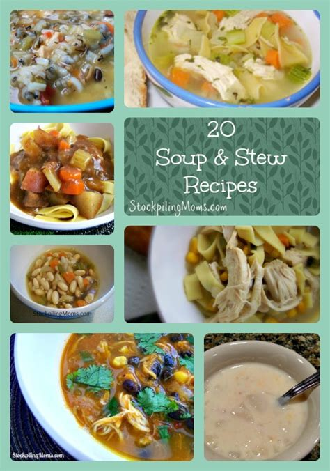 comfort soups and stews 20 soup and stew recipes