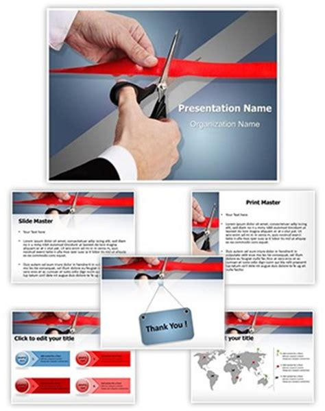 ppt templates for inauguration professional ribbon cutting inauguration editable
